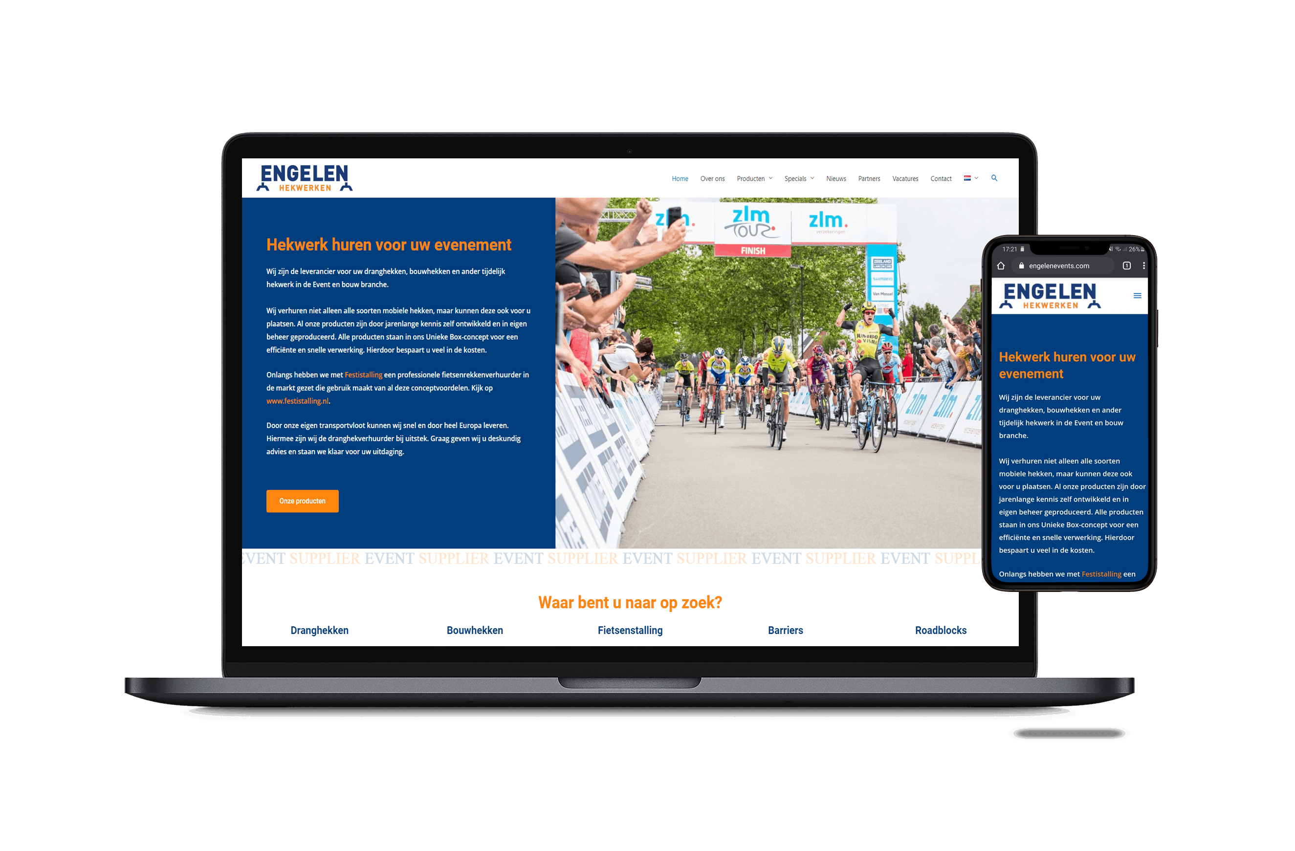 Engelen Events nieuwe website - 2020